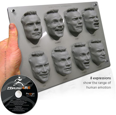 Male Expression Sheet and ZBrush Bundle
